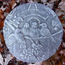 Bird garden plaque mold garden ornament stepping stone mould