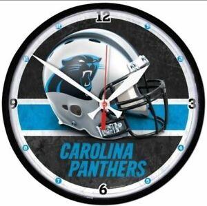 Carolina Panthers NFL Wall Clock