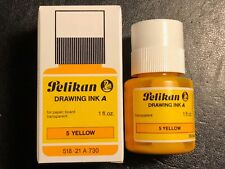 Pelikan Drawing Ink A, #5 Yellow Waterproof 1oz, for Paper, Board Transparent