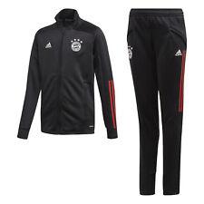 adidas FC Bayern Track Suit Kinder FCB Sportanzug Jacke + Hose schwarz NEU