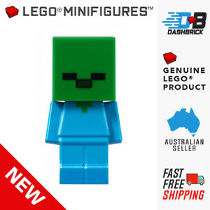 Genuine LEGO® Minifigure™ - Minecraft, Baby Zombie -  NEW - Limited