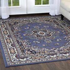 "Persien Blue Area Rug 9 X 12 Large Oriental Carpet 69 - Actual 9' 2"" X 12' 5"""