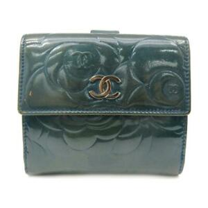 Chanel CC Wallet Patent Leather Green 4311
