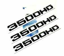 3x OEM Black 3500HD 3500 HD Nameplate EMBLEMS Badge for GM Silverado Sierra NewW