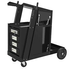 4 Drawer Cabinet Welding Welder Cart Plasma Cutter Tank Storag MIG TIG ARC New
