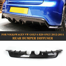 Carbon Fiber Rear Bumper Diffuser Lip Spoiler fit Fit For VW Golf 6 VI MK6 R20