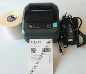 Zebra GK420d Thermal Label Printer with  Charger USB Cable 500 Labels  640