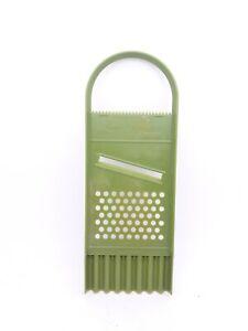 Linda Foursome Slicer Tomato Cutter Grater Garnisher  Vtg Plastic Green