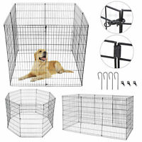 42 Inch Tall Dog Playpen Large Crate Fence Pet Play Pen Exercise Cage 8 Panels