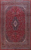 Vintage Floral Traditional Wool Area Rug Hand-Knotted Oriental Carpet 10x13 RED