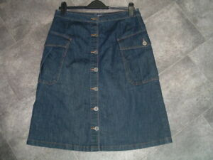 SIZE 12 NEXT STRETCH DENIM BUTTON FRONT SKIRT WITH LARGE POCKETS