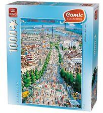 1000 Pieza Estilo cómico Jigsaw Puzzle-Ciudad De Barcelona España 05084