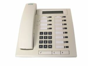 Tested, cleaned but discoloured Siemens Optiset E Advance Telephone for hi-path