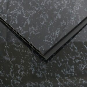 2 Black Marble Wall Cladding Ceiling Kitchen PVC Plastic Panel 8mm UPVC Splash