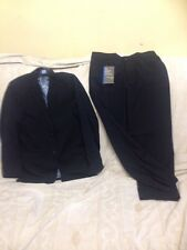 Marks And Spencer Boys Navy Blue 2 Piece Suit Jacket & Trousers Age 13