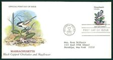 USA FDC 1982 VÖGEL & PFLANZEN MASSACHUSETTS VOGEL BIRDS BIRD PLANT OIESAUX cl84