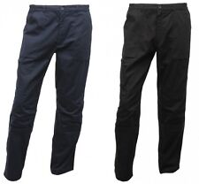 REGATTA MENS WORKWEAR ACTION TROUSERS NAVY BLUE or BLACK TRJ333