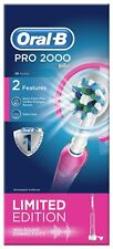 Oral-B Pro 2 2000W Gum Pressure Sensor Electric Toothbrush - Pink