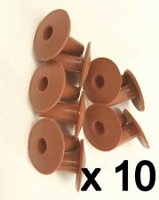 Plastic Hole Tidy Wall Grommet Cover Single Coax Aerial Cable Entry Brown x 10