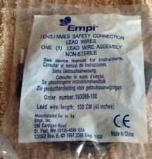 "Empi TENS/NMES Safety Connection Lead Wire 40"" (100cm) P/N 193068-100 + 5 items"