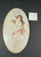 Vintage Gallery Graphics Victorian Chimmey Flue Cover Oval Fairy Lady Nice Hair