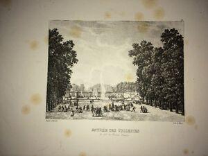 PARIS ( ENTRÉE DES TUILERIES AVEC ). LITHOGRAPHIE XIXe.