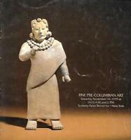 Sotheby's Pre-Columbian Art Auction Catalogs November 1979