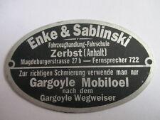 Targa Ì Oldtimer Targhetta Stemma Rivenditore DKW Enke Sablinski Zerbst