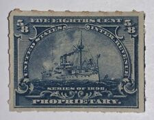 Travelstamps: US Revenue Stamp Scott #RB23 Battleship Proprietary Mint NG