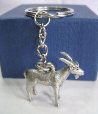 Pewter Goat Animal Figurine Charm Key Rings Key Chain Pendant Jewelry