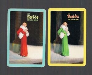 Swap Playing Cards  2 VINT CHIC GLAM LADY  LET EXIDE SEE YOU HOME  G20 SO CHIC