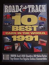 Road &Track Magazine December 1990 10 Best Cars in the World No Label (Y) Z2 Z9