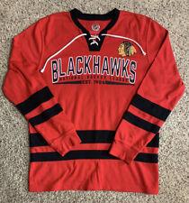 NHL Licensed Chicago Blackhawks Hockey Sweater Large L GIII Sports By Carl Banks