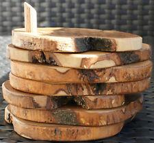 Olivenholz Glasuntersetzer Natur 7- teilig  Holz handgefertigt Untersetzer