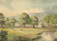 George Corson, Farmhouse, Yorkshire Dales –Mid-19th-century watercolour painting
