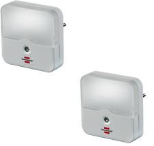 2x Brennenstuhl Nachtlicht LED Orientierungslicht Sensor für Steckdose Licht