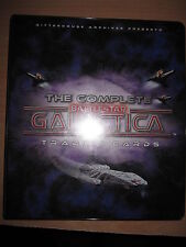 THE COMPLETE BATTLESTAR GALACTICA SAISON 1 RARE BINDER + COMPLETE BASE SET 72
