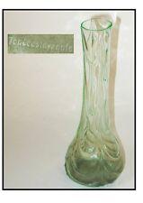VASE VERT OURALINE DE BOHEME Signé TCHECOSLOVAQUIE bohemian vase signed