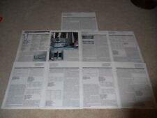 Nakamichi 1000 DAT Review, 9 pg, FULL TEST, Specs, Info, Rare High-End DAT Test