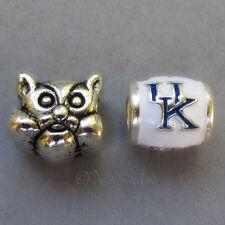 Kentucky Wildcats Logo And Mascot European Bead Charms - University Of Kentucky