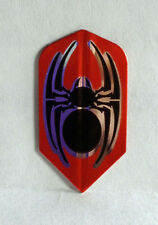 Amerithon Dart Flights-  Red, Black & Silver Tattoo Spider -1 Slim Set