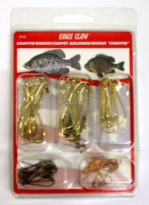 Eagle Claw Crappie/Bream Assortment Hook Pack of 80 Hooks 616H