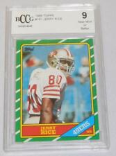 1986 Topps Jerry Rice San Francisco #161 Rookie Card GRADED 9