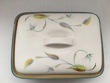 Denby 'Spring' Design by Albert Colledge Blue Rectangle Lidded Oven Dish