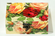 Regular size Wood handmade hinged trinket box decoupage Rose