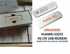 AIRTEL HUAWEI E3372 2G 3G 4G LTE  USB modem UNLOCKED HIGH SPEED for ANY NETWORK