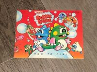 Bubble Bobble Instruction Manual Booklet Nintendo Nes Authentic