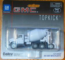 Boley HO #185-301377 2003 GMC Topkick 4-Axle Cement Mixer -- white