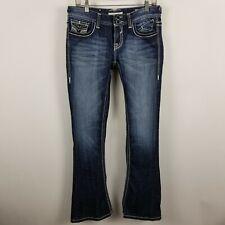 Vigoss Skinny Boot Cut Womens Dark Wash Blue Jeans Size 28