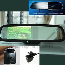 """Auto dimming car rearview mirror+4.3"""" LCD+compass+temp+camera,fit some Honda"""